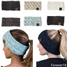 Women Knitted Knot Headband Head Wrap Ear Hair Band Winter Crochet Turban Wool