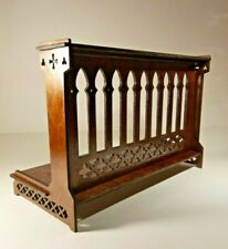 "Gothic Rail for Dolls 16-18"" 1/4 BJD tonner wood furniture OOAK Catholic"