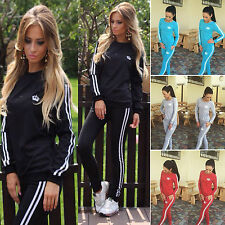 Damen Jogginganzug Sweatshirt Pullover + Hose Sportanzug Fitness Trainingsanzug