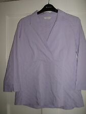"""LADIES LILAC TOP/ BLOUSE """" MARKS & SPENCER  """" SIZE 14  / HOLIDAYS."""