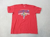 Florida Panthers Shirt Adult Extra Large Red Blue NHL Hockey Mens 90s
