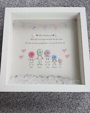 Bespoke Personalised grandparents Boxframe, Nan, Nanny Birthday, Gift christmas