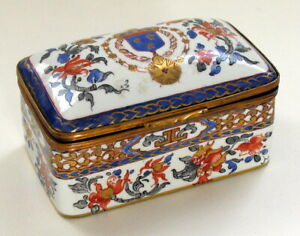 European Porcelain Box With Ormolu Bronze Probably Samsun Of Paris 19th century