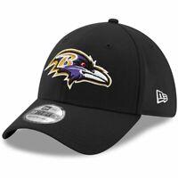Baltimore Ravens New Era NFL Team 39THIRTY Flex Fit Curve Hat - Black
