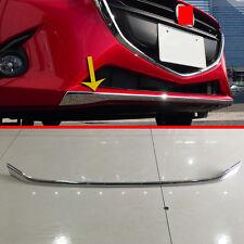 ABS Chrome Front Bumper Cover Trim For Mazda 2 Demio DJ DL 2015 2016 2017