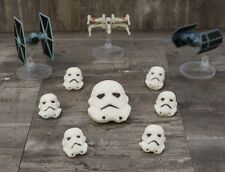 Star Wars Cake Toppers Large Stormtrooper and 6 Small Troopers