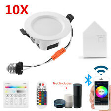 10X Rgbwc Led Ceiling Panel Lamp Down Light Bluetooth Mesh App Controler Dimmer