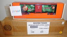 LIONEL 6-29972 EMPLOYEE CHRISTMAS O GAUGE TOY TRAIN BOXCAR 2012 HOLIDAY CAR USA
