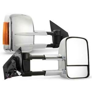 BettaView Extendable Caravan Towing Mirrors MAZDA BT50 2012-18 Chrome Smoke Ind