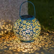 Solaire Lanterne Extérieur Jardin Suspendu lampes de table en métal Lampe Patio Extérieur Décoration