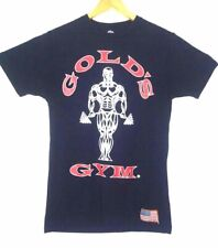 Gold's Gym navy blue mens size small graphic workout t shirt !!