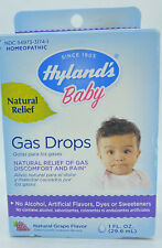 Hyland's Baby Gas Drops Homeopathic Relief, Gas Discomfort and Pain Grape 1 oz