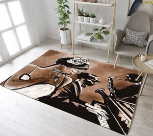 Floor Rug Mat Bedroom Carpet African Black Beauty Band Living Room Area Rugs