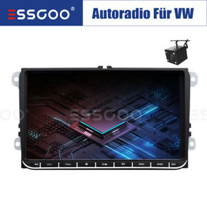 "9"" Autoradio Android RDS GPS NAVI + Telecamera For VW GOLF 5 6 Passat Touran EOS"