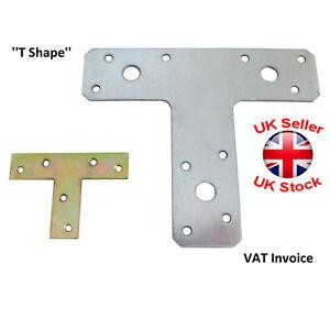 "Flat Bracket ""T Shape"" Mending Plate Joiner Connector 2 Sizes Pack:1,5,10,20"