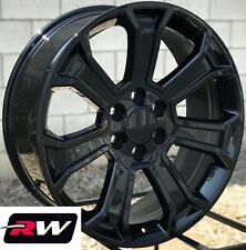 "20"" inch 20 x9"" Wheels for Chevy Avalanche Gloss Black Rims 5665"