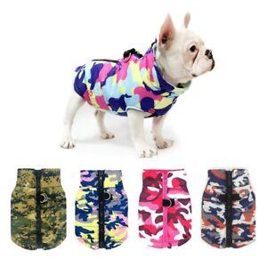 Waterproof Pet Dog Winter Puppy Vest Camo Jacket Warm Clothe Outdoor Padded Coat