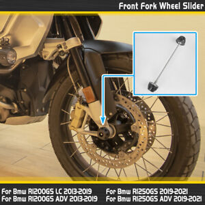 Front Wheel Axle Protector Crash Slider For BMW R1200GS R1250GS ADV