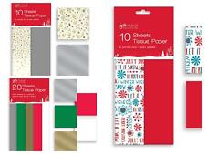 10 / 20 SHEETS CHRISTMAS TISSUE PAPER GIFT BOX PRESENT WRAPPING XMAS