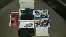 PS Vita with accessories, games and 16GB memory card and AR cards