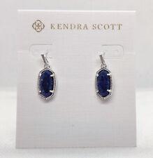 New Kendra Scott Lee Drop Earrings In Blue Lapis / Silver