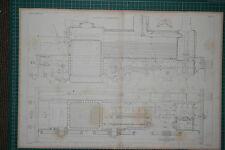 1860 GRANDE LOCOMOTIVA stampa ~ Kitson'S MOTORE elevazione & Plan