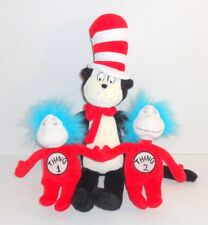 Dr Seuss Cat in the Hat Thing 1 Thing 2 Plush Doll Lot Set EUC P93