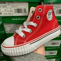 PF FLYERS CENTER HI KI2001RD RED SNEAKER KIDS INFANT TODDLERS SHOES SIZE