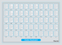 2 PACK White Arabic Alphabet Keyboard Stickers Letters Transparent