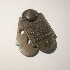 ANTIQUE J TANN SAFE KEY HOLE PLATE LOCK ESCHUTCHEON NEWGATE STREET LONDON SMALL