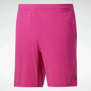 Reebok Men's CrossFit® Austin II Solid Shorts Proud Pink New
