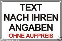 FIRMENSCHILD WERBESCHILD WARNSCHILD TEXT LOGO DESIGN NACH IHREN ANGABEN  P148