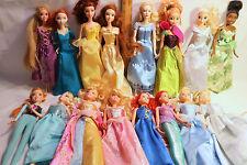 Lot x16 Disney Princess Barbie Dolls Belle~Ariel~Cinderella~Tiana~Anna~Elsa MORE