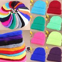 23 Colors Men Women Beanie Knit Ski Cap Skull Blank Color Winter Warm Unisex Hat