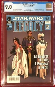 Star Wars Legacy #3 CGC 9.0 VF/NM White Pages Sep 2006 1st Ghost Luke Skywalker