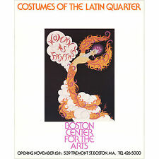 """Erte-""""Costumes of the Latin Quarter-Poster"""" Hand signed  with COA"""