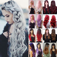 Real Soft AS Remy Hair Ombre Two Tone Dyeing Synthetic Hair Full Wig For Girls