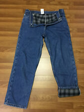 MENS 36 x 32 - Carhartt B172 Denim Flannel Lined Blue Jeans Pants Relaxed Fit