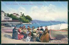 Genova Santa Margherita Ligure Tombolo Pizzo Ricamo cartolina QK9377