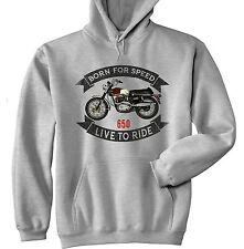 BSA Firebird 650-Grigio Felpa Con Cappuccio-Tutte le taglie in magazzino