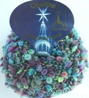 Laines du Nord OPALINE #3 Turquoise Pink Purple Boucle Loops Wool 50g Yarn Skein