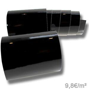 9,8€/m² Autofolie Schwarz Glanz Auto Folie Luftkanäle Klavierlack glänzend