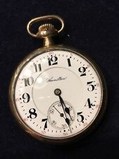 hamilton railroad grade pocket watch. 16s 21j. Working condition. Circa 1913.