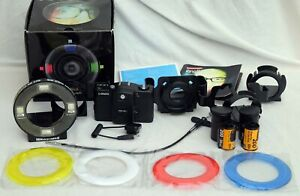 Lomo LC-A+ 35mm film camera + RINGFLASH lots of extras CLASSIC LOMOGRAPHY
