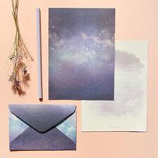 1x Milky Way Letter Set - 4sh Writing Stationery Paper 2sh Envelope 2pcs Sticker