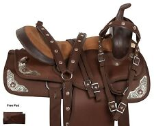 BROWN 14 15 16 17 18 WESTERN PLEASURE TRAIL BARREL RACING HORSE SADDLE TACK PAD