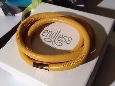Endless Jewelry 57cm Black Bracelet Triple Strand Yellow Clasp rrp £55