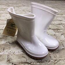 Tamarack Kids Youth Size 6 Glossy White Rain Boots NEW Unisex