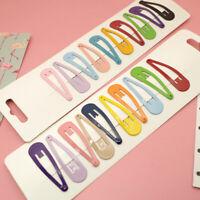 Acrylic Snap Hair Clips Hairpin Barrette Pins Baby Girl Hair Bows Colors