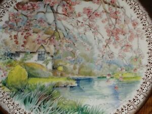 Queen Duchy Fine China Collectors Plate Cottage Scene Spring